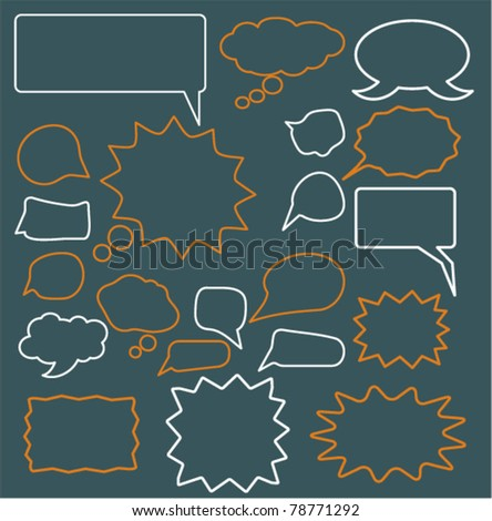 chat & idea icons, signs, vector - stock vector
