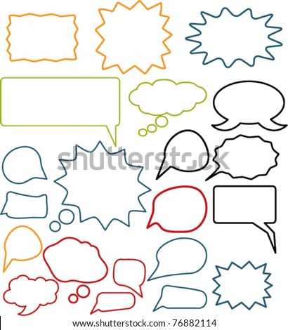chat & idea, talk icons, signs, vector illustrations - stock vector