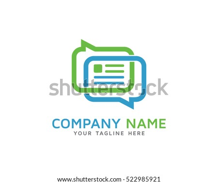 Chat News Logo Design Template Stock Vector 522985921 - Shutterstock