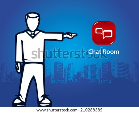 chat room - stock vector