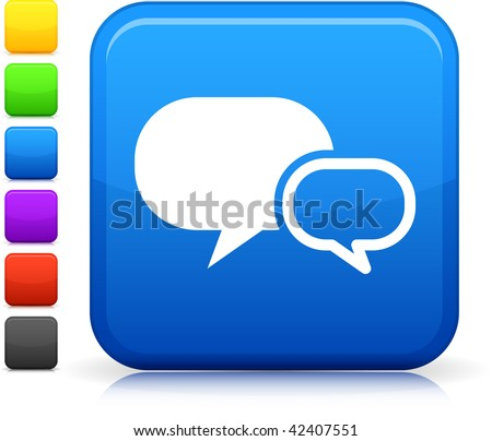 Chat Room Icon On Square Internet Stock Vector Hd Royalty Free