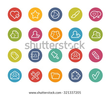 Chat Room Icons // Printemps Series - stock vector