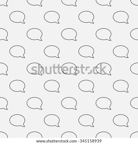 Chat seamless pattern - vector minimal texture or background made of thin line chat bubbles - stock vector
