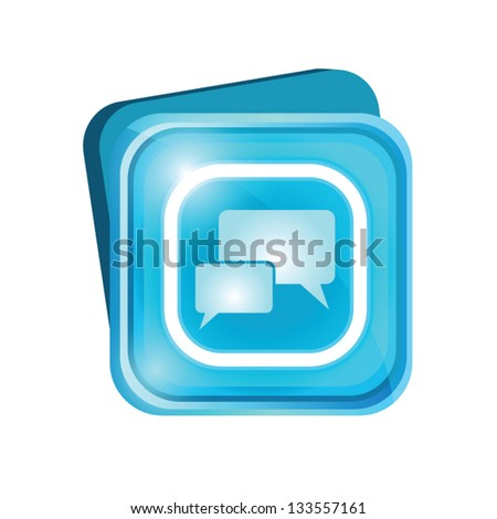 Chat sign - stock vector