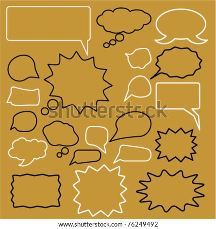 chat signs, vector illustration - stock vector
