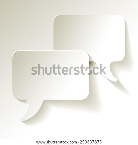 chat speech bubbles vector white - stock vector