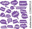 chat, speech icons set, vector - stock vector