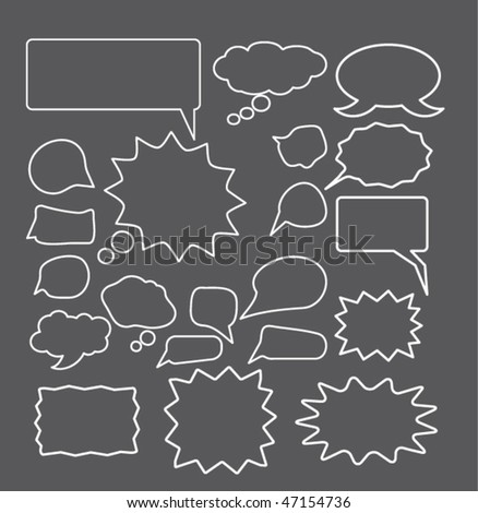 chat & thought signs. vector