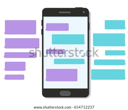 chatbot whatsapp chat bot text message stock vector royalty free