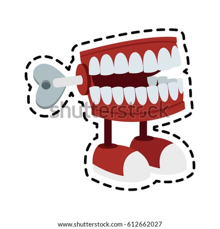 chattering teeth wind toy icon imageのベクター画像素材 612662027