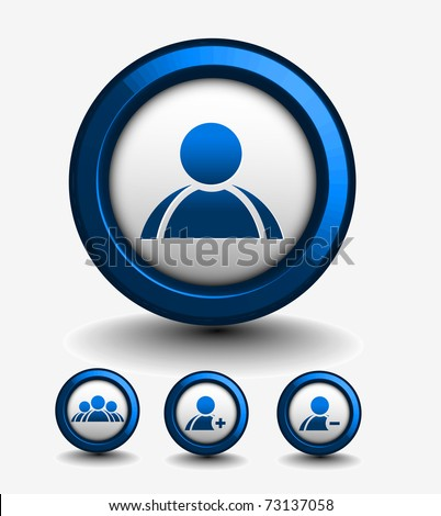 chatting button includes four  versions for your web design used. - stock vector