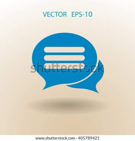 chatting icon - stock vector