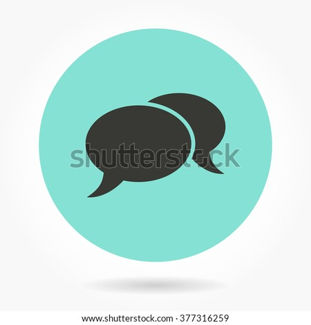 Chatting   -   icons for graphic design and Internet sites. Vector illustration.  - stock vector