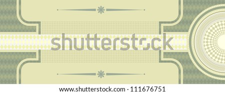 check coupon background - stock vector