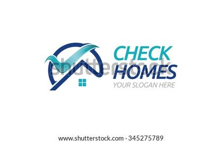 Check Homes Logo - stock vector