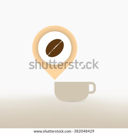 Check In Coffee Shop Concept Vector - stock vector