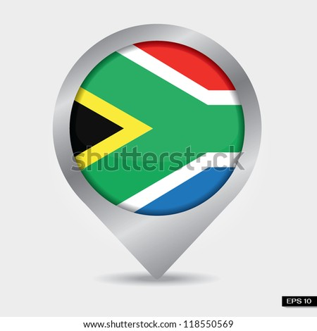 Check-in South Africa flag