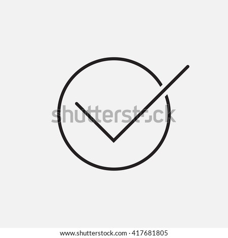 Check line icon, outline vector logo illustration, linear pictogram isolated on white - stock vector