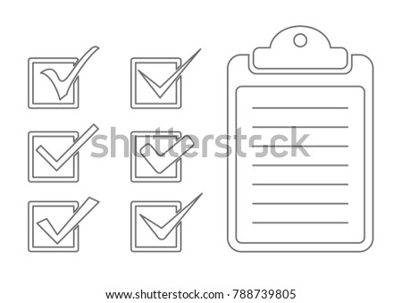check list and mark outline icon