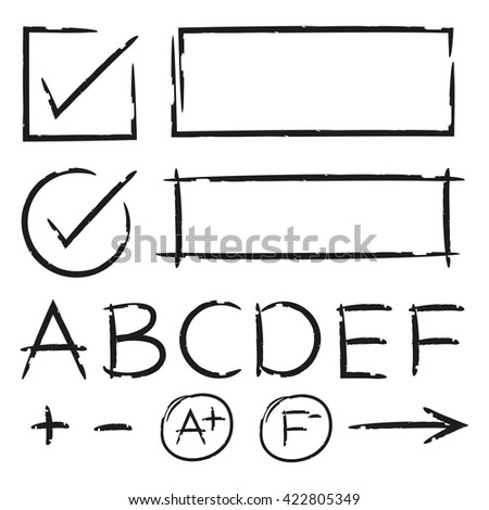 check list, grade result symbol