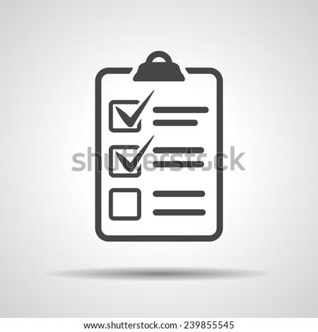 check list icon - stock vector