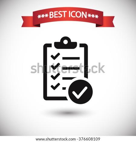 Check list icon vector - stock vector