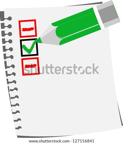 Check list paper - stock vector