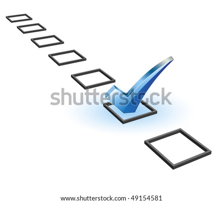 check list symbol - stock vector