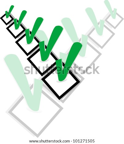 Check list symbol with ok sign. abstract vector illustration - stock vector