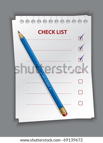 check list vector - stock vector