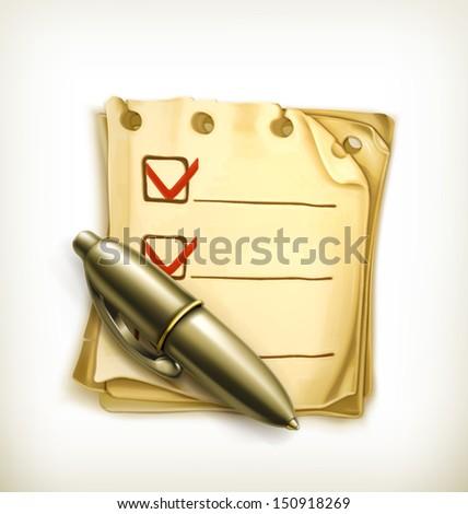 Check list, vector icon - stock vector