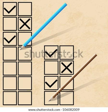 Check list. Vector illustration - stock vector