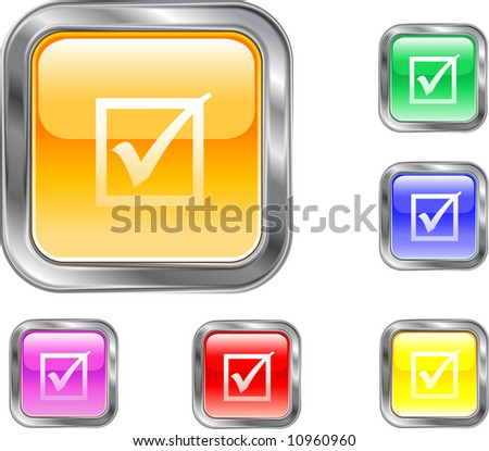 Check Mark Button - stock vector