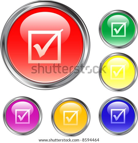 Check Mark Buttons - stock vector