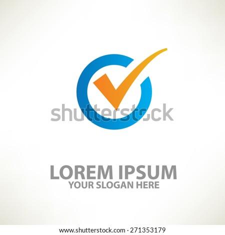 Check mark design,logo template,clean vector - stock vector