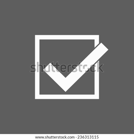 check mark icon - stock vector