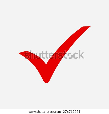 Check mark icon. Flat design style. Vector EPS 10. - stock vector