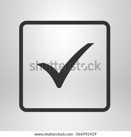 Check mark icon. Flat design style. Vector EPS 10.
