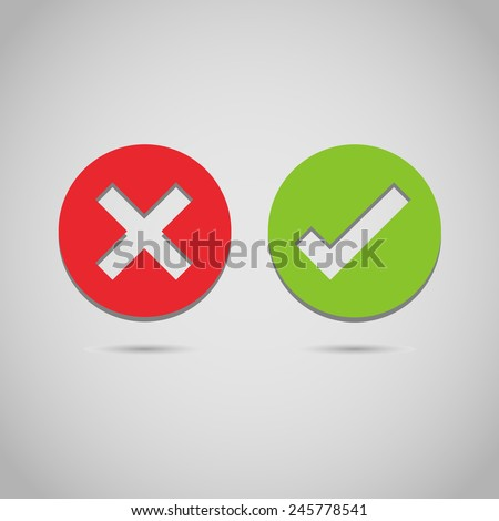 Check mark icon great for any use. Vector EPS10.