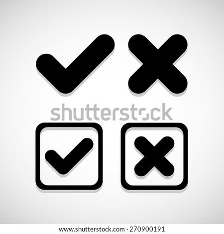 check mark icon great for any use. Vector EPS10.  - stock vector