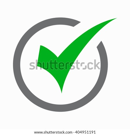 Check mark icon, simple style  - stock vector