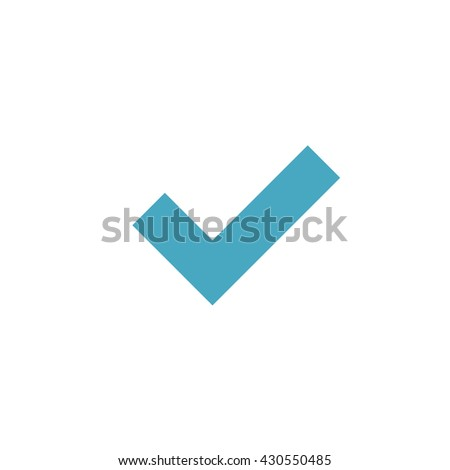 check mark icon. vector illustration - stock vector