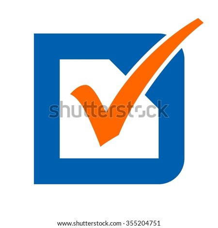 check mark logo vector. - stock vector