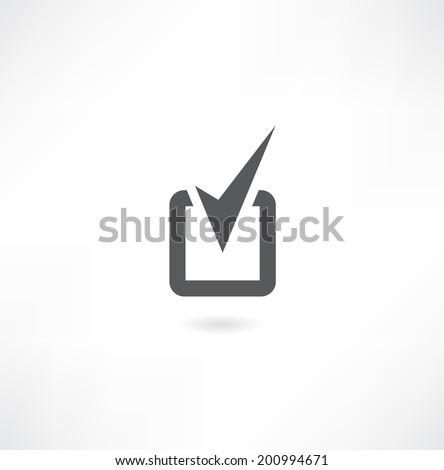 check mark sign. - stock vector