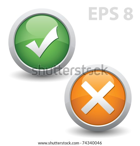 Check mark. Vector EPS version 8.