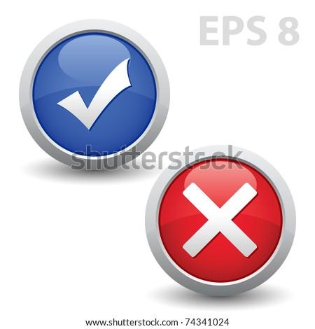 Check mark. Vector EPS version 8. - stock vector