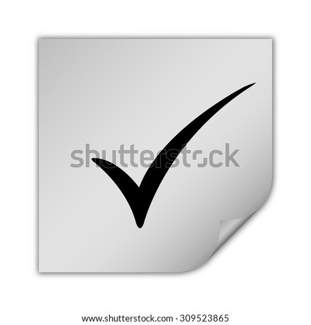 check mark vector icon - stock vector