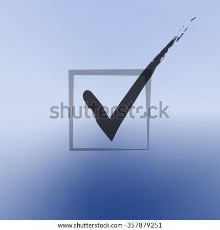 check mark vector icon. - stock vector