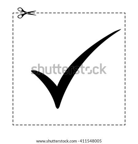 check mark vector icon - stock vector