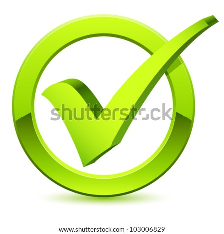 check mark - vector illustration - stock vector